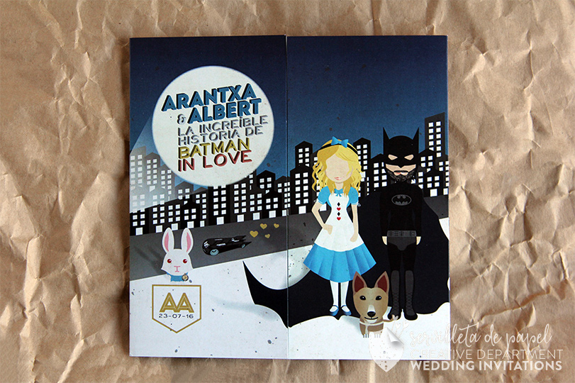 Invitación Batman Alicia Servilleta De Papel